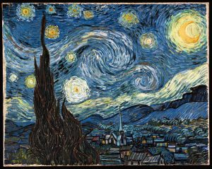 Vincent Van Gogh's Starry Night illustrating magical realism