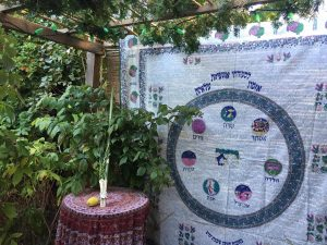 A sukkah ready for Sukkot