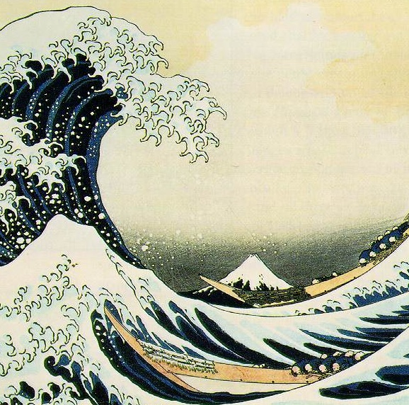 Illustrating time and change: Hokusai Katsishika's painting of the big wave