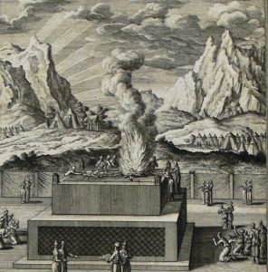 Burnt Offering (Leviticus) drawing by Philip De Vere