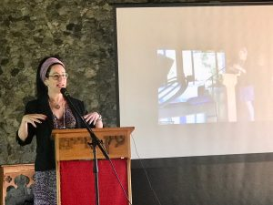 "Laura Duhan-Kaplan speaking about ""The Afterlife Journey: Kabbalistic Guidelines for Death Preparation"" at Vancouver School of Theology"