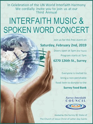 Interfaith Music & Spoken Word Concert