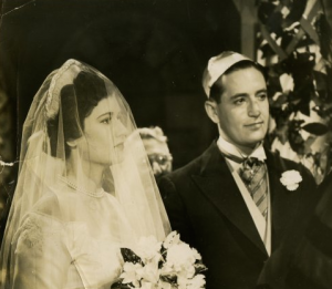 A black and white 1950s wedding photo of my parents, Ruth and Bernard Duhan, who taught me about teshuvah