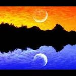 A post about daily spiritual discipline illustrated withe a drawing of trees over a lake with a yellow sky at the top and a blue lake at the bottom.