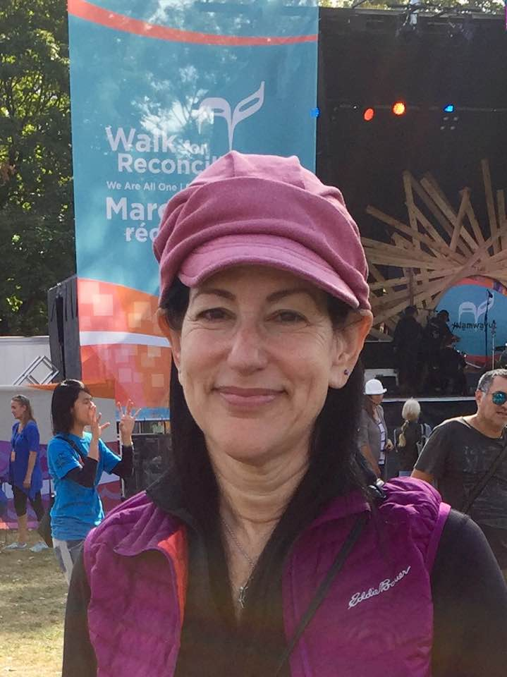 Laura Duhan Kaplan at the 2017 Walk for Reconciliation, photo courtesy of Charles Kaplan